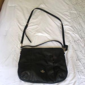 COACH | leather shoulder purse
